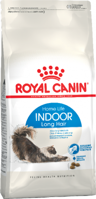 Сухой корм Royal Canin Indoor Long Hair для домашних длинношерстных кошек, 2 кг
